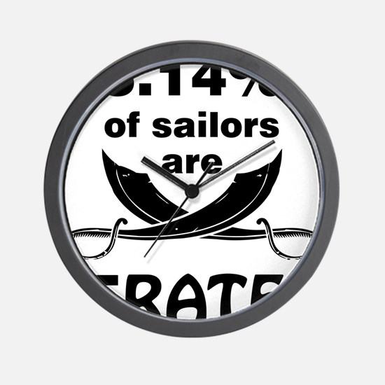 Sailors are pirates Wall Clock