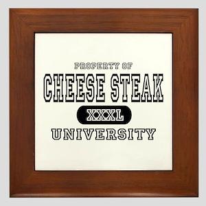 Cheese Steak University T-Shirts Framed Tile