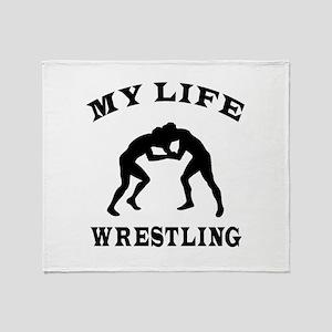 My Life Wrestling Throw Blanket
