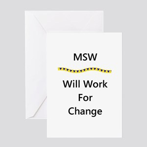 MSW Work for Change Greeting Cards