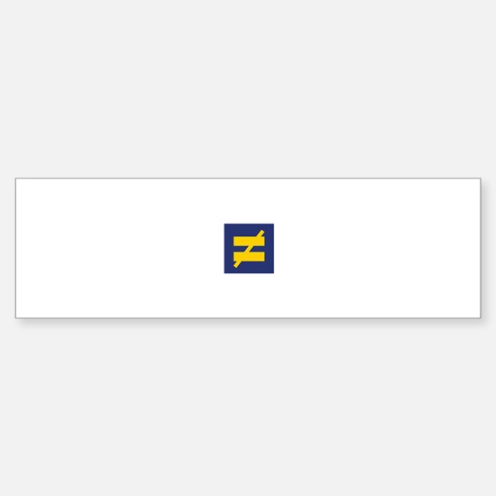 Not Equal - Different by Design Bumper Bumper Bumper Sticker
