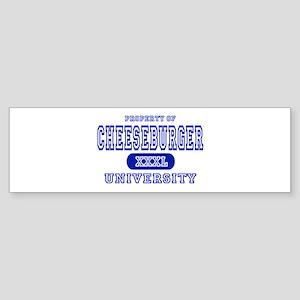 Cheeseburger University Bumper Sticker