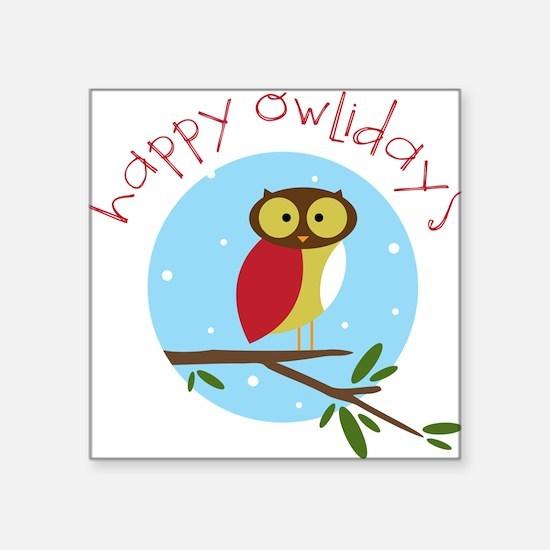Happy Owlidays Sticker