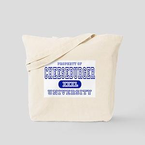 Cheeseburger University Tote Bag