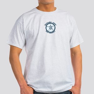 Panama City - Sand Dollar Design. Light T-Shirt