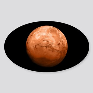 Planet Mars Sticker (Oval)