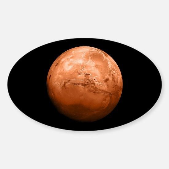 Planet Mars Sticker (Oval)