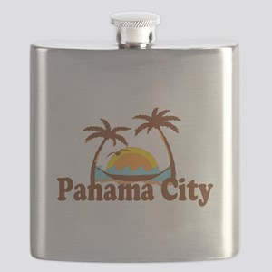 Panama City - Palm Tree Designs. Flask