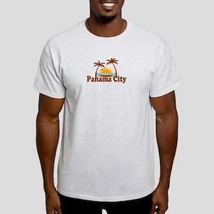 Panama City - Palm Tree Designs. Light T-Shirt