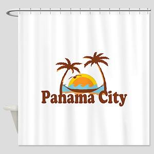 Panama City - Palm Tree Designs. Shower Curtain