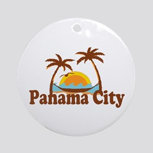 Panama City - Palm Tree Designs. Ornament (Round)