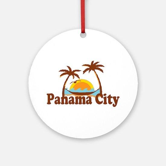 Panama City - Palm Tree Designs. Ornament (Round)