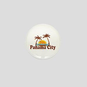Panama City - Palm Tree Designs. Mini Button