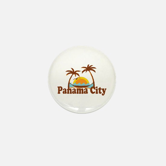 Panama City - Palm Tree Designs. Mini Button