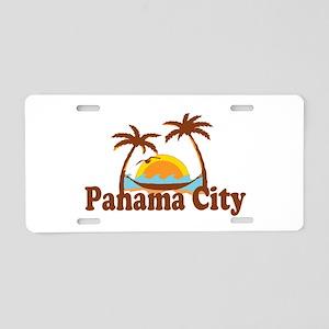 Panama City - Palm Tree Designs. Aluminum License