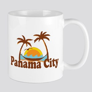 Panama City - Palm Tree Designs. Mug