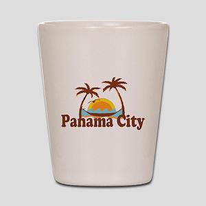 Panama City - Palm Tree Designs. Shot Glass