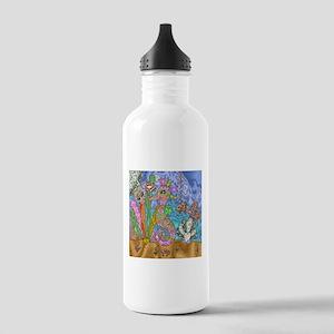 Sea Horse Sea Turtle Art Water Bottle