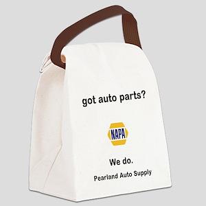 got auto parts? Canvas Lunch Bag