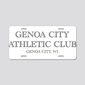 Genoa City Athletic Club 01 Aluminum License P