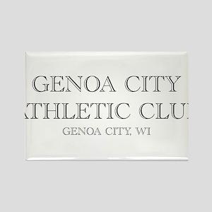 Genoa City Athletic Club 01 Rectangle Magnet