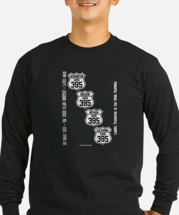 US Route 395 All States Long Sleeve T-Shirt