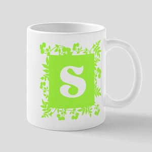Plants and Letter S. Mug