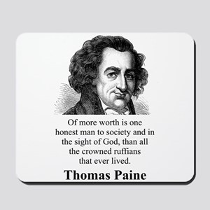 Of More Worth Is One Honest Man - Thomas Paine Mou