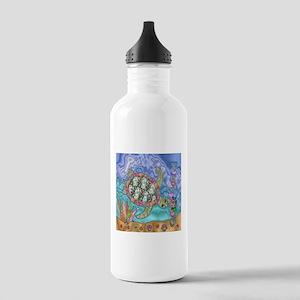 Sea Turtle Sea Horse Art Water Bottle