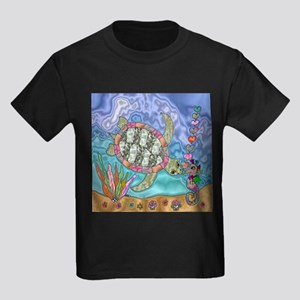 Sea Turtle Sea Horse Art T-Shirt