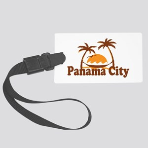 Panama City - Palm Tree Designs. Large Luggage Tag