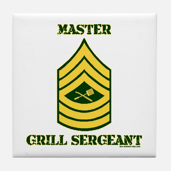 GRILL SERGEANT-MASTER Tile Coaster