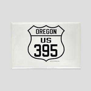US Route 395 - Oregon Rectangle Magnet