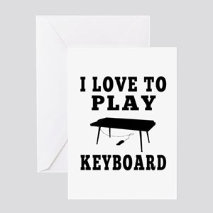 I Love Keyboard Greeting Card