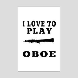I Love Oboe Mini Poster Print