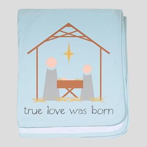 True Love Was Born baby blanket