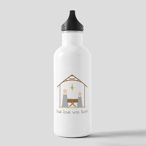 True Love Was Born Water Bottle