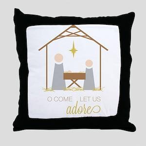 Let Us Adore Him Throw Pillow