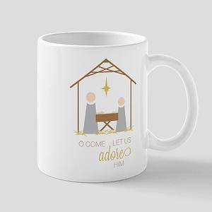 Let Us Adore Him Mug