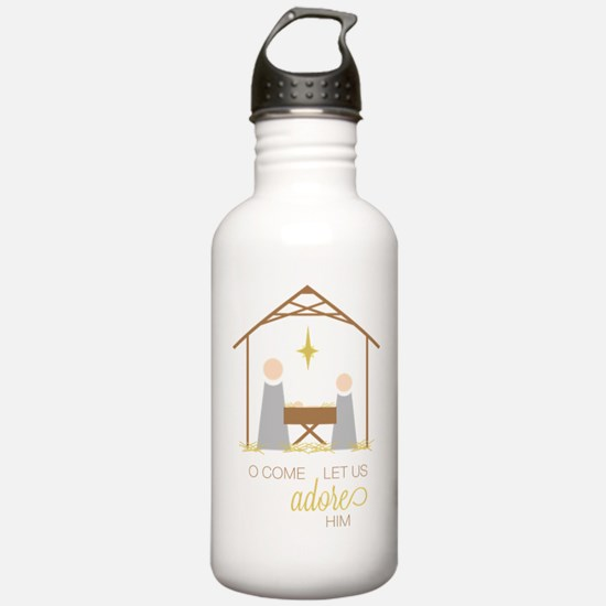 Let Us Adore Him Water Bottle