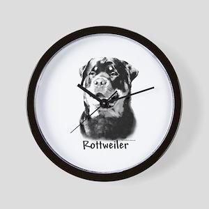 Rottweiler Charcoal Wall Clock