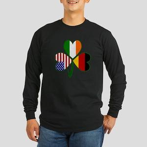 Shamrock of Germany Long Sleeve Dark T-Shirt