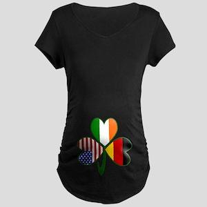 Shamrock of Germany Belly Maternity Dark T-Shirt