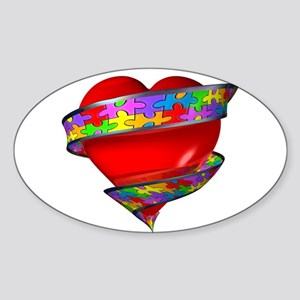 Red Heart w/ Ribbon Sticker