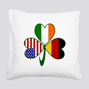 Shamrock of Germany Square Canvas Pillow