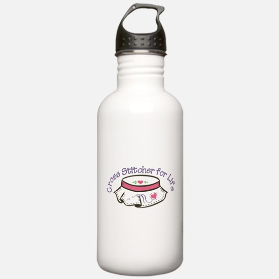 Cross Stitcher For Life Water Bottle