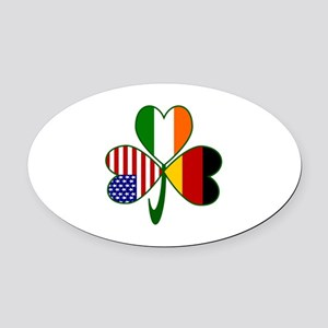 Shamrock of Germany Oval Car Magnet