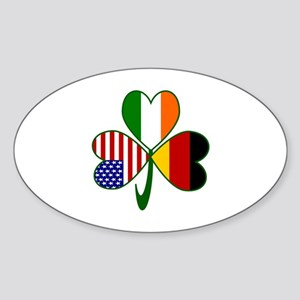 Shamrock of Germany Sticker (Oval 10 pk)