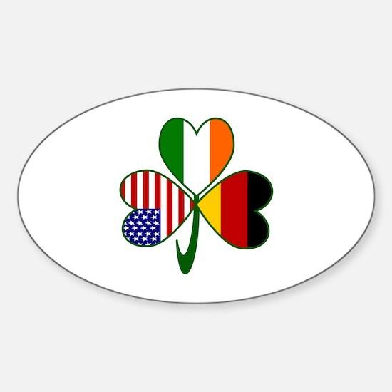Shamrock of Germany Sticker (Oval 10 pk)