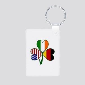 Shamrock of Germany Aluminum Photo Keychain